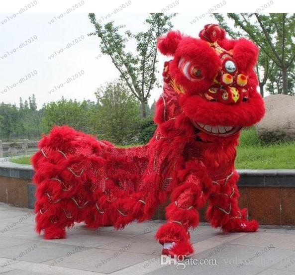 Lion Dance Costume Northern Style FRP Head Long Fur Event Ceremony Celebration Party Outfit Fancy Dress LLFA