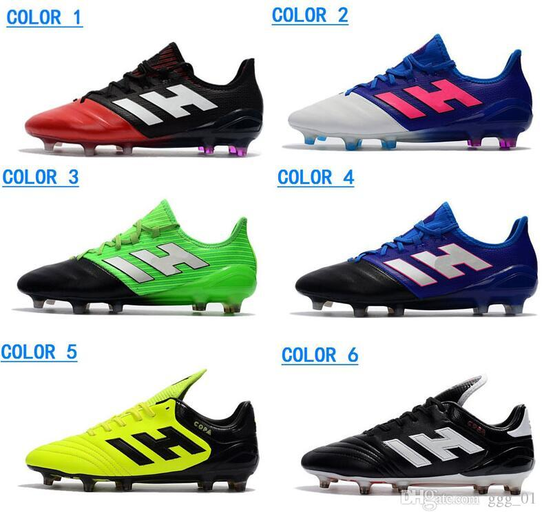 reputable site 8a338 76bd9 2018 Hot ACE 17.1 Leather FG Men s Soccer Shoes Outdoor Soccer Cleats New  Male Football Shoes New Arrive Mens ACE 17.1 Football Cleats
