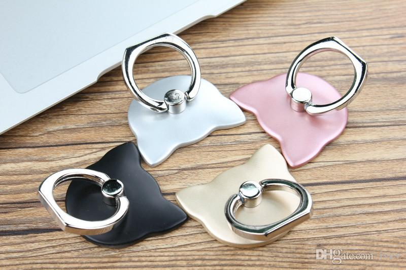 360 Degree Finger Ring Mobile Phone Smartphone Stand Holder For iPhone iPad Xiaomi all Smart Phone Luxury Couple Models with retail package