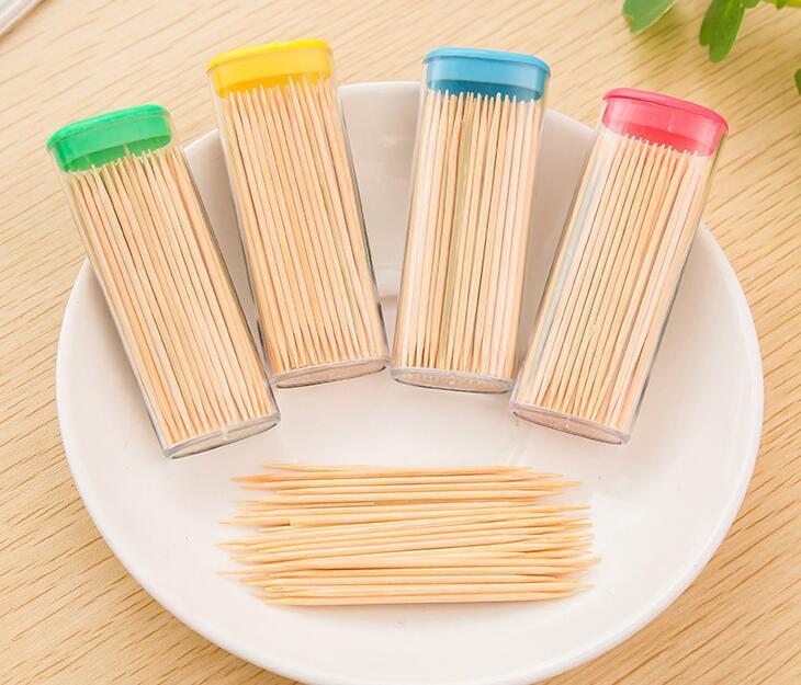 / bag hotsale decorazioni la tavola accessori hotel creativo uso domestico portatile di bambù naturale stuzzicadenti dentale flosser trasporto libero