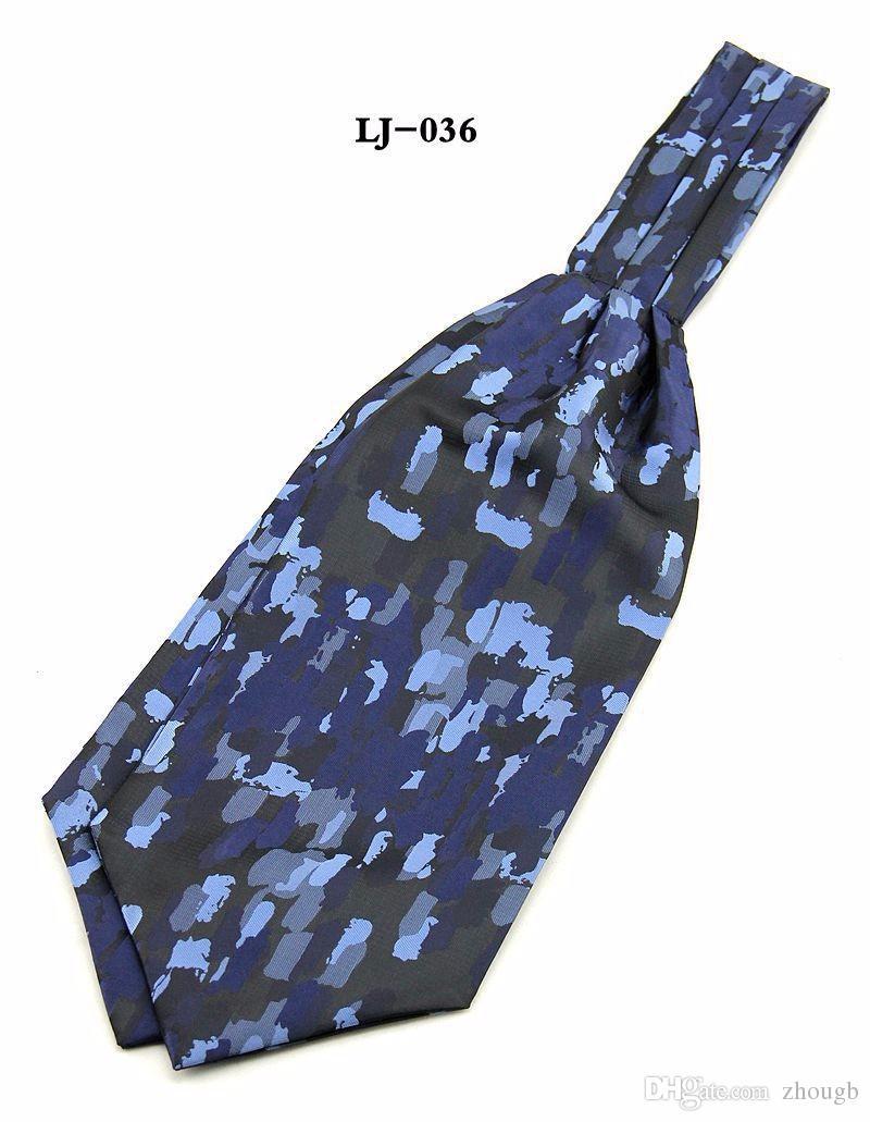 2017 Hot Ascot Tie corbata bufanda hombres corbata Jacquard bufanda Self Tie bufanda de la boda