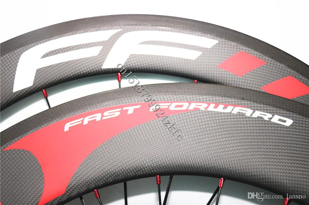 Hot Sale Road Bike FFWD Fast forward F6R+F9R 700C 60mm+88mm Carbon Wheels Clincher Tubular 23mm 25mm Width Bicycle Wheelset Made in China