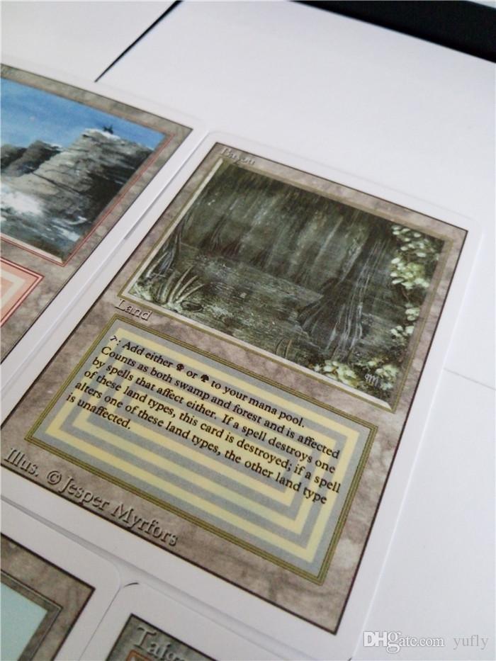 نوعية جيدة / ماجيك بطاقات لعبة متنها بطاقات DIY إصدار اللغة الإنجليزية غير لامع مجلس ألعاب مجموعة بطاقات مخصصة TCG الكلاسيكية