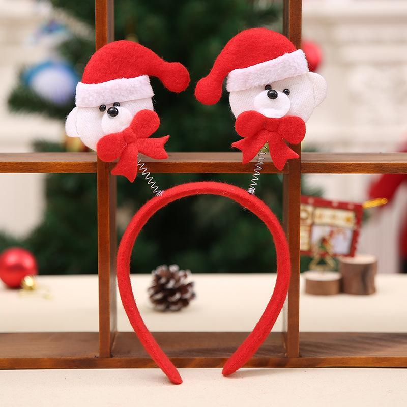 Eco-Friendly femmes mignon Bandeau de Noël Fête de Noël Costume Père Noël Bonhomme de neige Bande cheveux Accessoires cheveux cadeau de Noël
