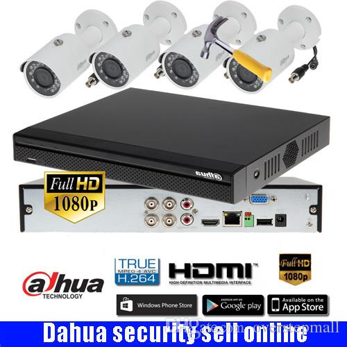 Dahua 4CH HDCVI DHXVR5104HS-S3 CVR camera kit with dahua 1080P CVI camera  DH-CVI-HFW1200S IR30M Waterproof HDCVI Camera CVI-HFW1200SP