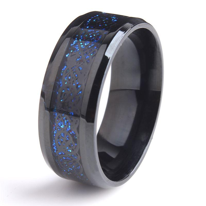 band stainless com ring damascus dp amazon wedding steel rings