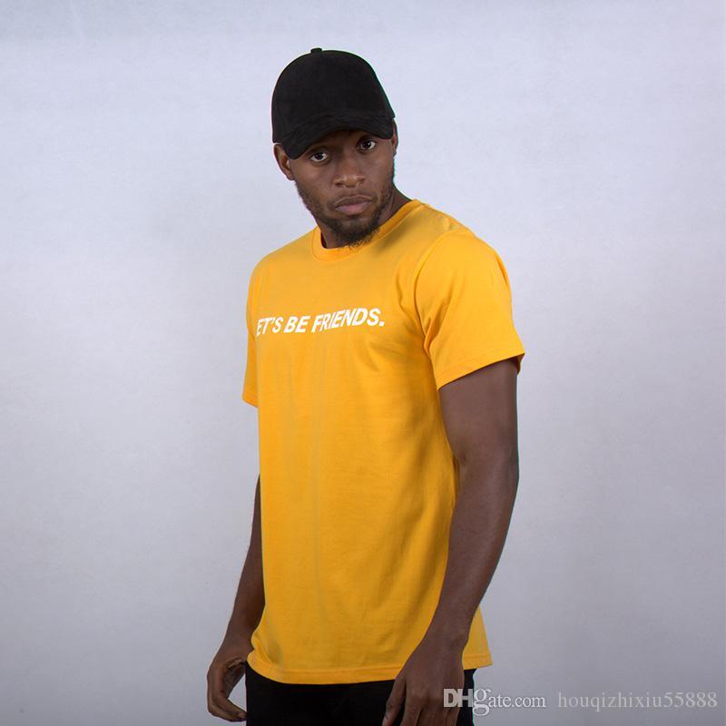 Compre Desgaste De La Calle Alta Hombres Camisetas Hip Hop Para Hombre Hip  Hop Ropa Ropa Africana Marca Tee Camiseta Amarilla A  35.25 Del  Houqizhixiu55888 ... b79d4e71a70