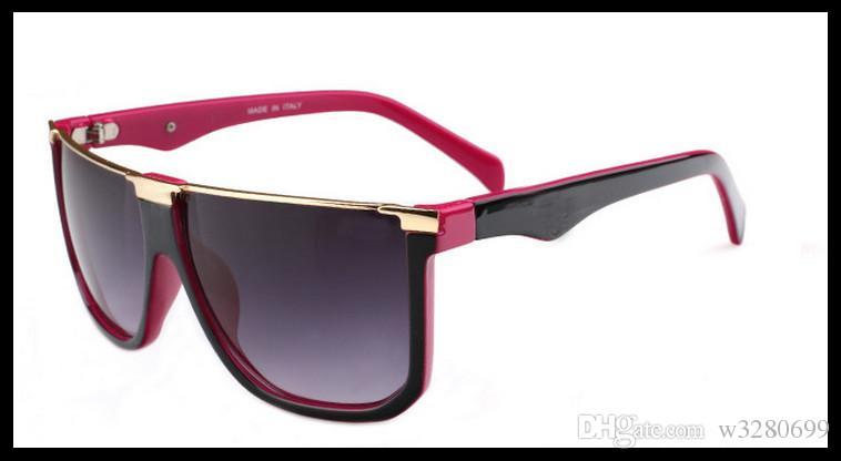 2017 occhiali da sole moda retrò specchio telaio uomini e donne decorativi anti-ultravioletti occhiali grande telaio vendite dirette della fabbrica