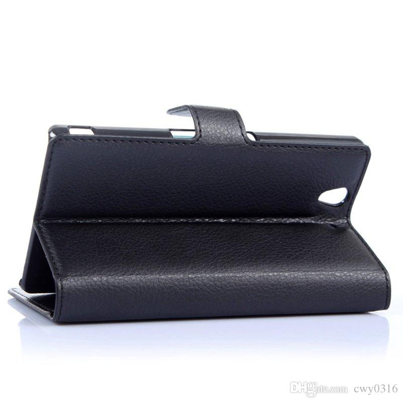 Premium Leather Wallet Flip Cover Case for Sony Xperia Z L36h C6602 C6603 with Card Slots and Cash Holder Phone Protector