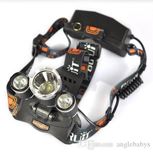 Nuevo 2017 HOT Fashion Brand 9000Lm de calidad superior 3x XM-L2 LED Linterna recargable HeadLight Torch USB Lámpara + 18650 + Cargador