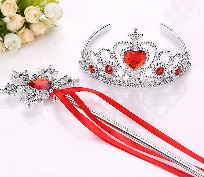 Снежинка ленты палочки корона набор волшебная палочка девушка Рождественская вечеринка драгоценный камень палочки волшебные палочки венок оголовье диадемы Принцесса COS реквизит дети подарок