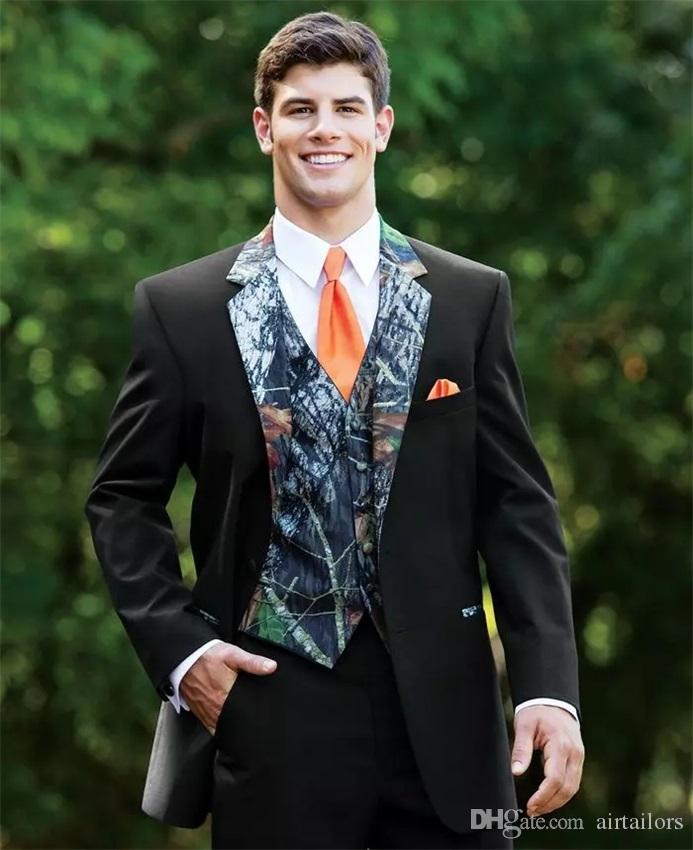 Acheter Unique Camouflage Hommes Costume Camo Tuxedo Jacket Mens Floral  Blazer Designs Smokings De Mariage Slim Fit Mens Costumes De Bal Veste +  Pantalon + ... c09f7067221