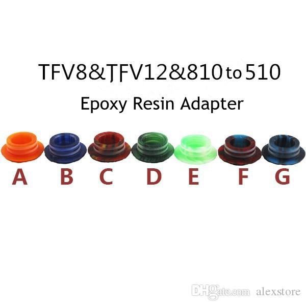 Epoxy Resin 810 to 510 Adapter TFV8 TFV12 to 510 Adaptor Mouthpiece For SMOK TFV8 Cloud Beast Tank Atomizer Drip Tips Connector
