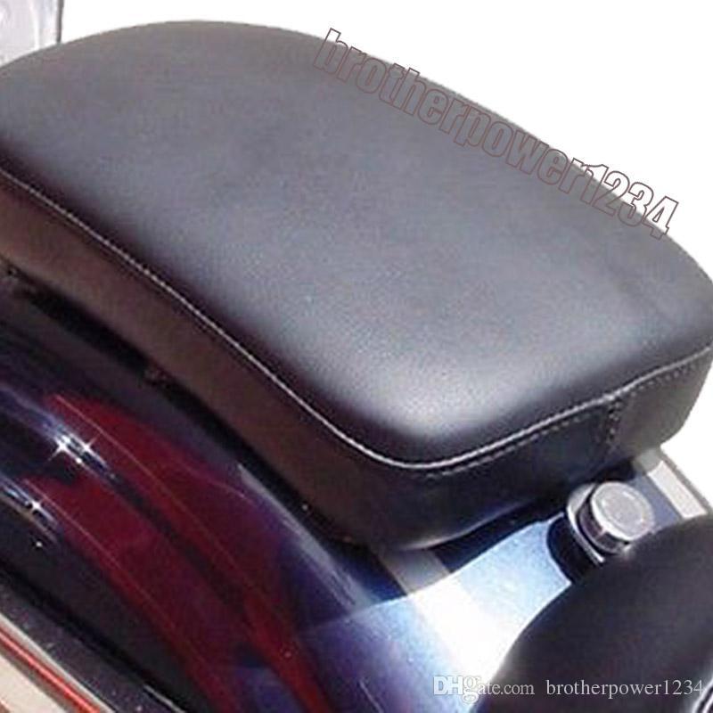 Black 6 Suction Cup Rectangular Pillion Passenger for Harley Custom Chopper