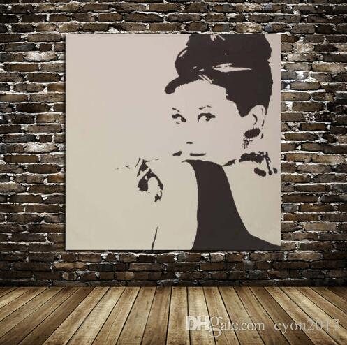 2018 Free Shipping100% Hand Painted Audrey Hepburn Wall Art Pop Art Oil  Painting On Canvas High Quality From Cyon2017, $54.56 | Dhgate.Com