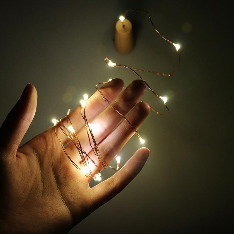 Wholesale 2m 20 Led Copper Wire String Light With Bottle
