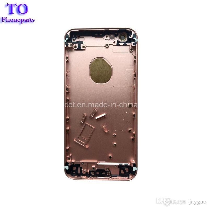 para el grado A de la Asamblea Oro iPhone 6S Plus tapa de la batería que contiene la contraportada de puerta trasera Caja blanco Negro piezas de repuesto de teléfono