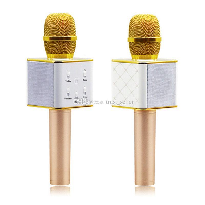 Q7 Bluetooth Microphone Portable Handheld Wireless KTV Karaoke Player Loudspeaker With MIC Speaker For iPhone 7 Plus Samsung S7 Edge