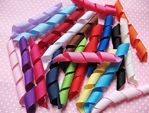 "optional! HipGirl 2.5inch length 1/4""Width Grosgrain Korker Ribbon for Hair Bows, Hairbow for clip /rubber band 100-3000PCS/"