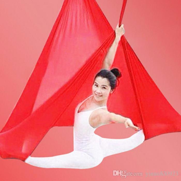 hammock YOGA SWING anti gravity Yoga Stretch Resistance Bands hammock Yoga bed Belts Indoor fitness Supplies
