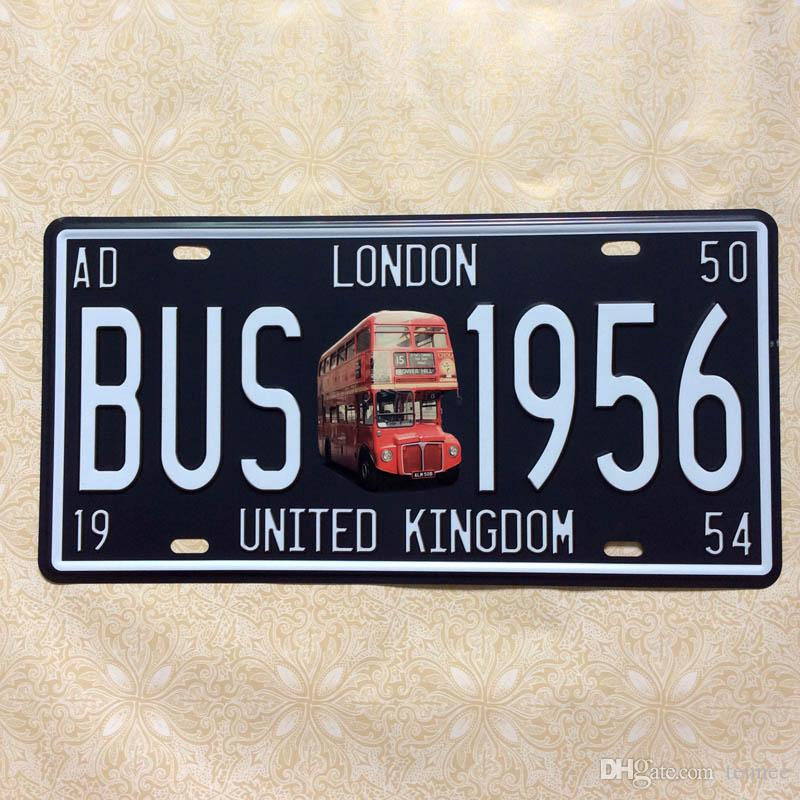 2018 london bus 1956 retro license plate tin sign vintage metal