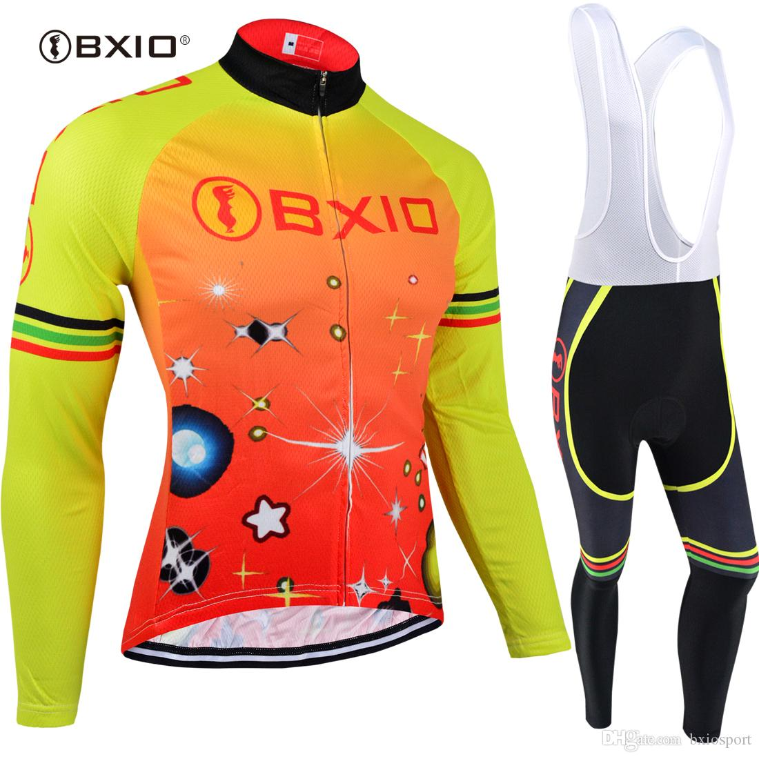 BXIO Own Brand Cycling Jersey Winter Keep Warm Bicycle Clothing Pro Team 3  Rear Pockets Bike Jersey Men Ropa Ciclismo Invierno Long Sleeve Cycling  Jersey ... 5640e4c52