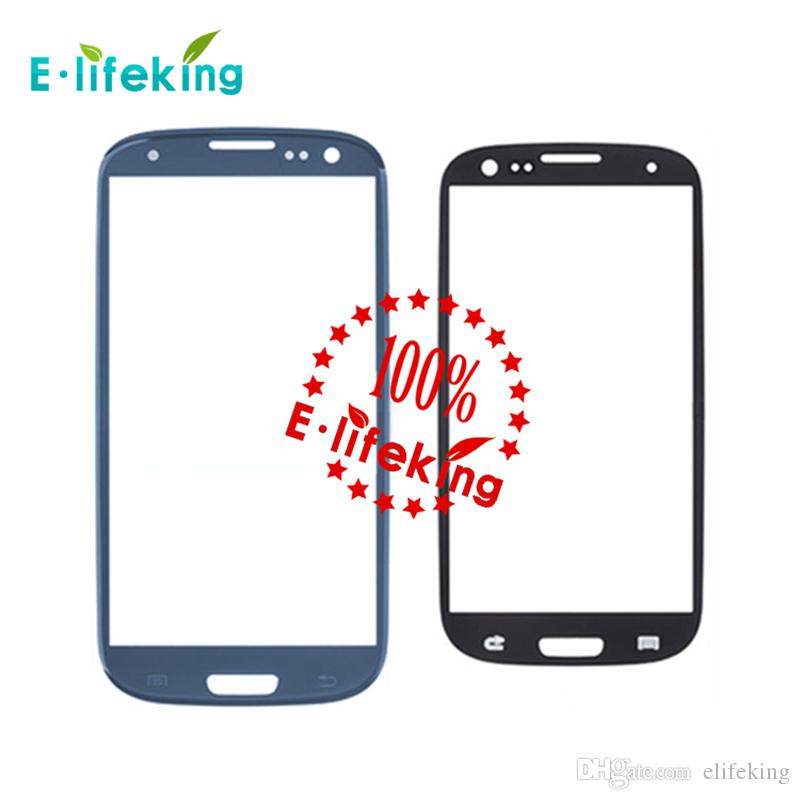 Nuevo para SAMSUNG Galaxy S3 SIII I9300 sin Touch Digitalizador frontal pantalla exterior lente de vidrio blanco / negro / rojo / azul / rosa Envío gratis