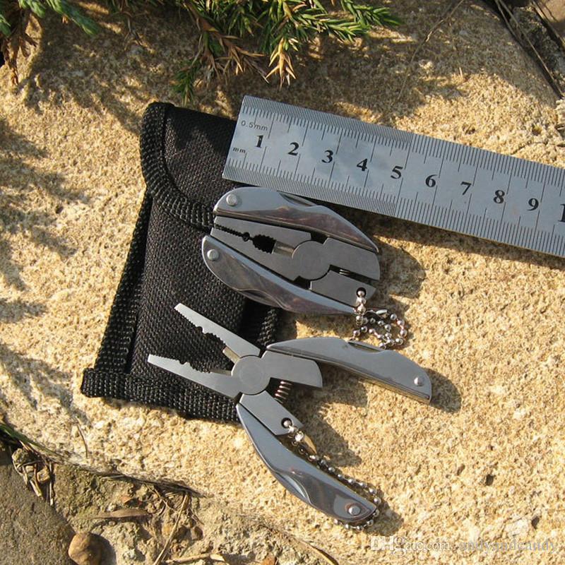 Taşınabilir İşlevli Katlanır Pense Cep Paslanmaz Çelik Katlanır Bıçak Anahtarlık Tornavida Kamp Survival Araçları Seyahat Kitleri