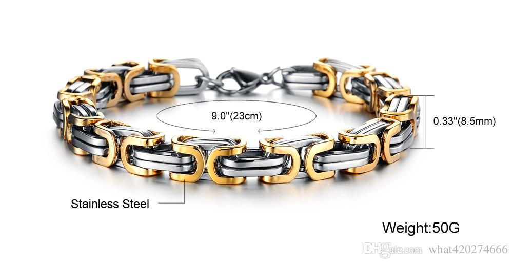 Klassisches Design Punk Schmuck Edelstahl Armband Spezielle Biker Fahrrad Motorrad Kette Für Herren Armbänder Armreifen pulsera