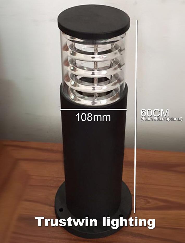 110V 220V Landschaftspfestange Licht Lampe Wasserdichte Outdoor-Projekt Garten Rasenlampen Säule Säulenrod Poller