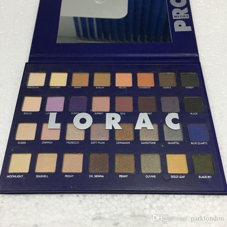 2017 lorac mega pro 2 blue palette eyeshadow palette shimmer matte