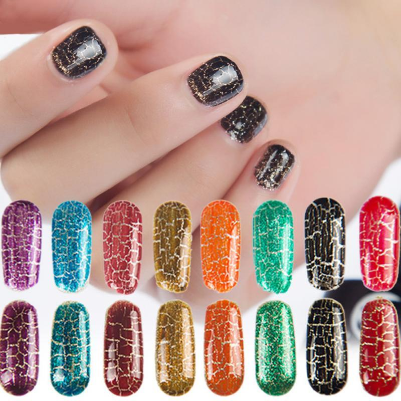 Crack Glue Nail Art Soak Off Uv Gel ful Crackle Uv Lacquer Cracking ...