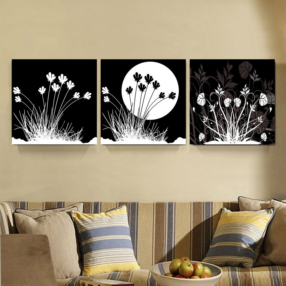 2018 black white moon & fleur paintings home decor canvas picture