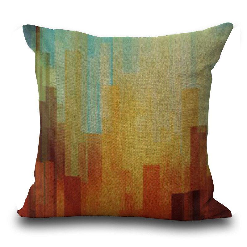Rainbow Diamond Stripe geometric pattern Throw Pillow Cases Cushion Cover Pillowcase Linen Cotton Square Pillow Case Pillowslip 240550