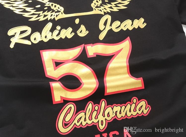 2016 Tops Tees diseño de moda Robin Jeans camisetas Hombres Robin de los hombres Camisetas de manga corta Robins Tshirts Tamaño grande M-3XL Para hombres Desgaste