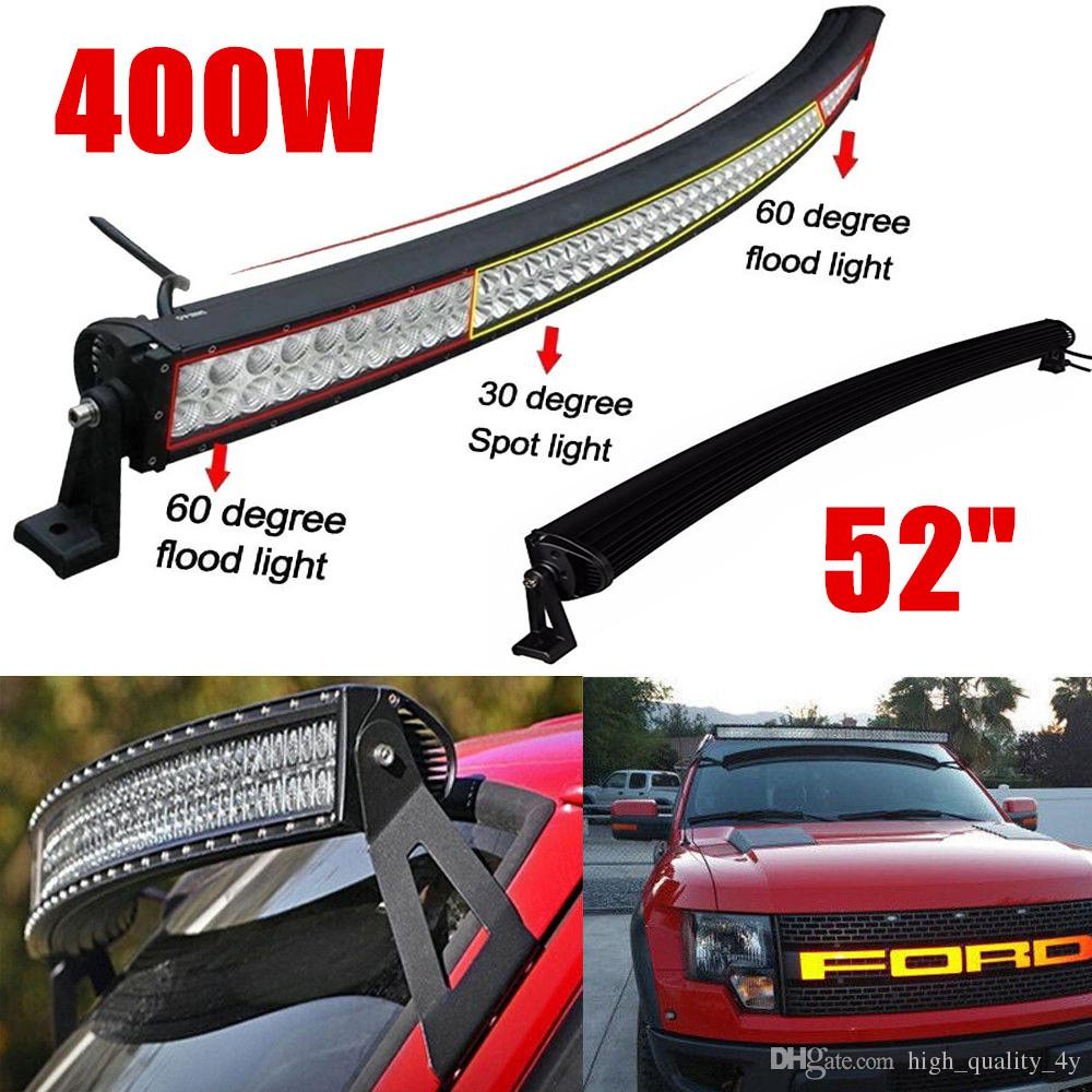 52 inch 400w high power curved led light bar for boat off road truck 52 inch 400w high power curved led light bar for boat off road truck jeep ford tractor trailer 4wd suv combo beam work driving bumper lights led lamps led aloadofball Gallery
