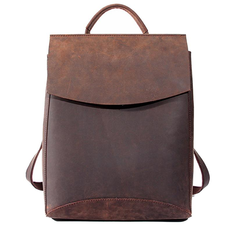 Wholesale 100% Genuine Leather Women Backpacks Top Quality Handcraft