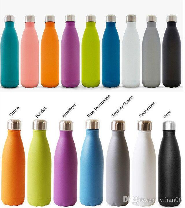 2017 HOT Cola Shaped Insulated Double Wall Vacuum Water Bottle 500ML Creative Thermos Bottle Vaccum Insulated Cups Kettle