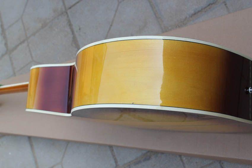 OEM el işi gitar, classica 43 inç Tabacco sunburst renk jumbo akustik gitar, çin'de yapılan, ücretsiz kargo