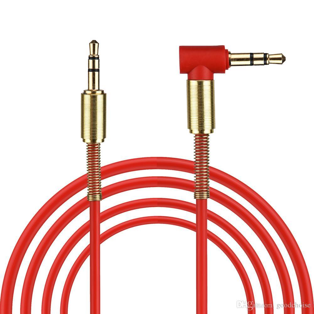 universal de 3,5 mm delgado cable de audio auxiliar AUX y suave de cable para auriculares estéreos de coches Inicio