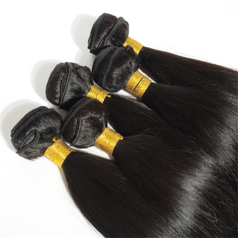المنك البرازيلي مستقيم الإنسان العذراء الحياكة الشعر 100G الكمبيوتر / / الكثير مزدوج لحمة الطبيعي الأسود اللون الإنسان ريمي الشعر