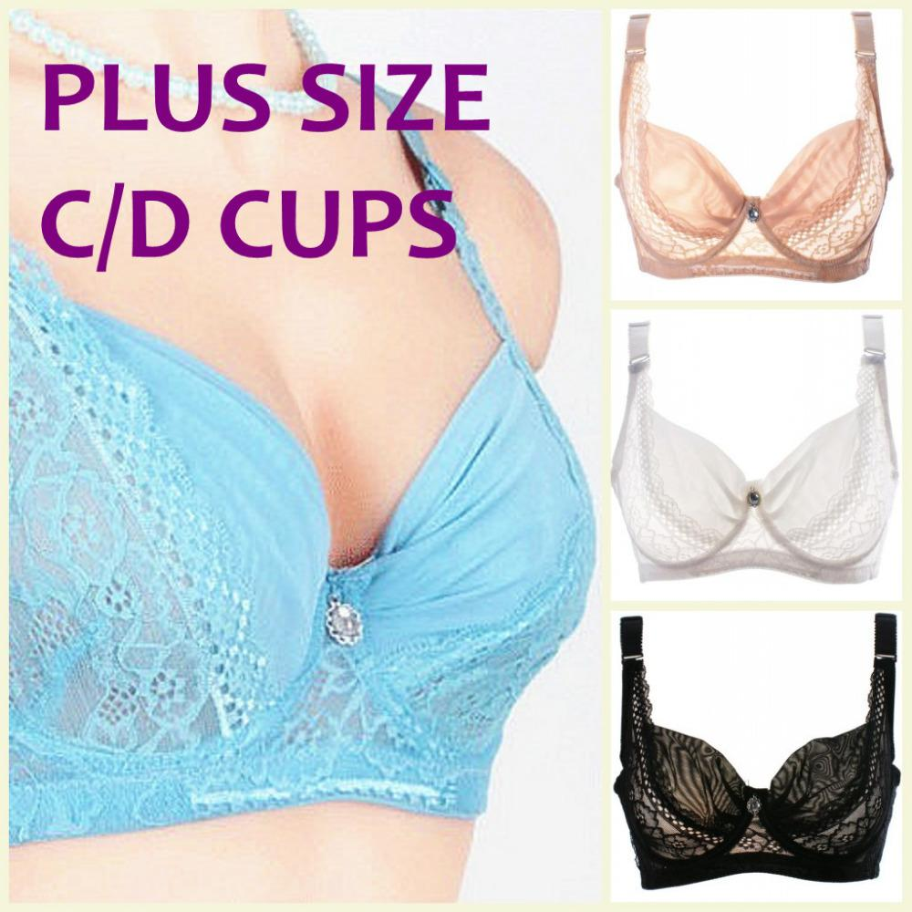79d47f94a886c Intimates Fashion Style Summer Ultra Thin Bra Large C D Cup Bra Adjustable  Straps Sexy Lace Plus Size Underwired Bra H049 Underwired Bra Plus Size  Ultra ...