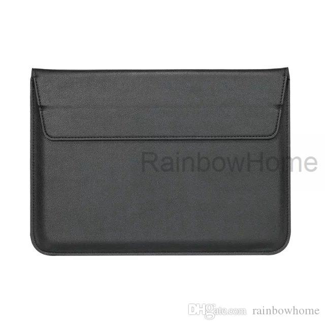 13 polegadas Macbook Laptop Bolsa em couro premium PU Bolsa de Transporte para Apple MacBook 11.6 Saco Envelope Sleeve 12 13,3 15,4 Air Pro Retina Macio