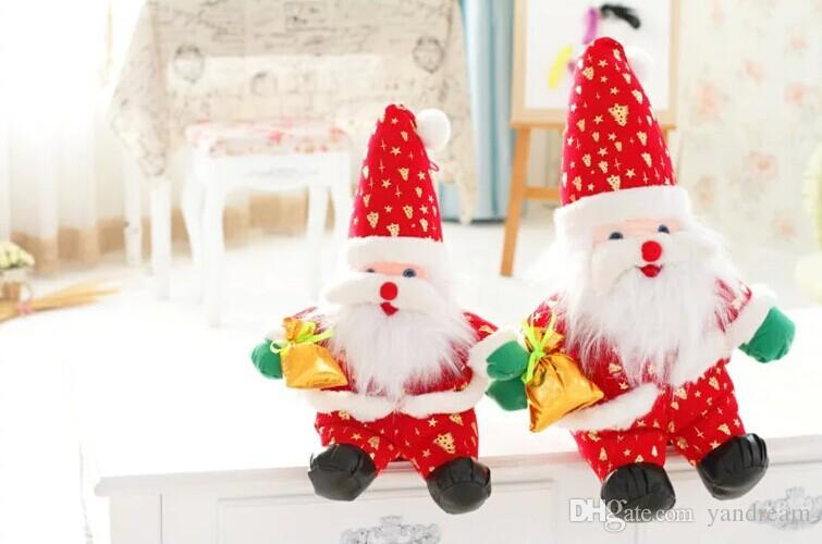 2018 Santa Claus Doll Doll Christmas Gift Christmas Party Supplies ...