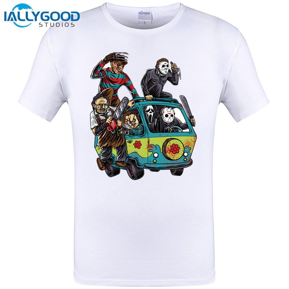 2017 Newest Men Horror Movie The Massacre Machine Printed T Shirt ...