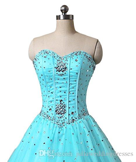 34c8f293cd0 Bealegantom New Stock Blue Quinceanera Dresses 2017 Ball Gown Ruffle Beaded  Crystal Sweet 16 Prom Pageant Debutante Party Gown 2 16 QC 338 Quinceanera  ...