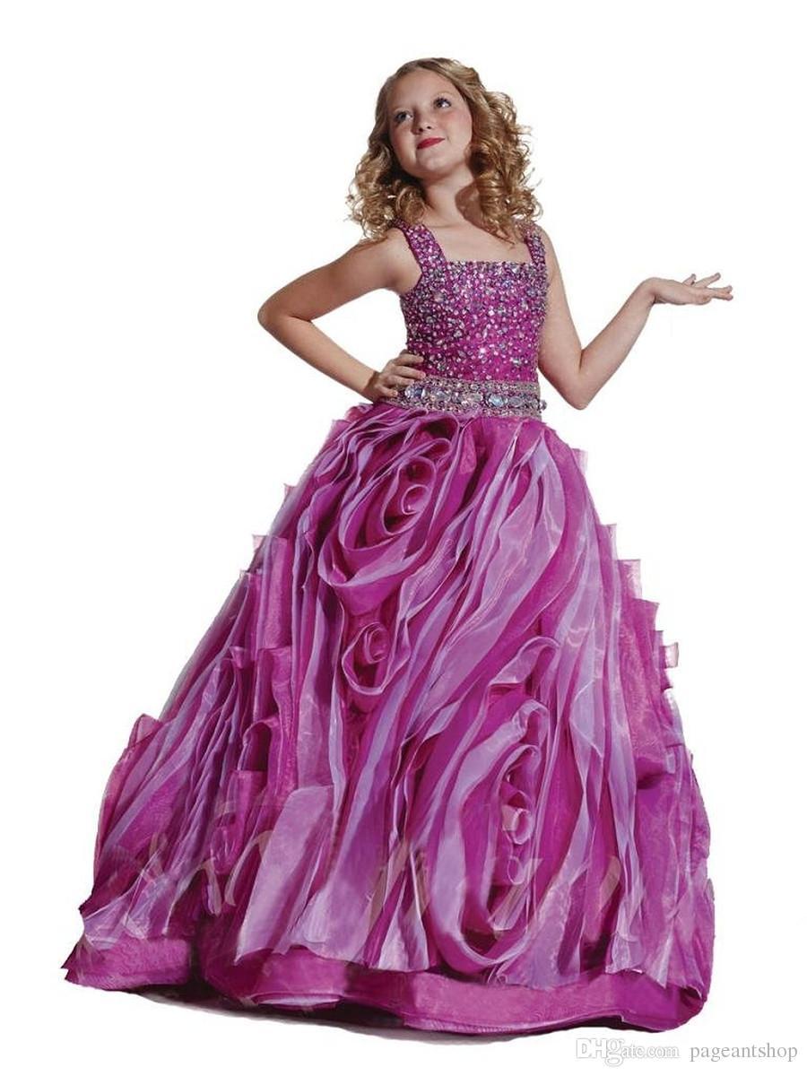 großhandel mädchen wunderschöne riemen diamant ballkleider kinder rüschen  perlen kleid kind speical anlass geburtstag prom party pageant kleid von