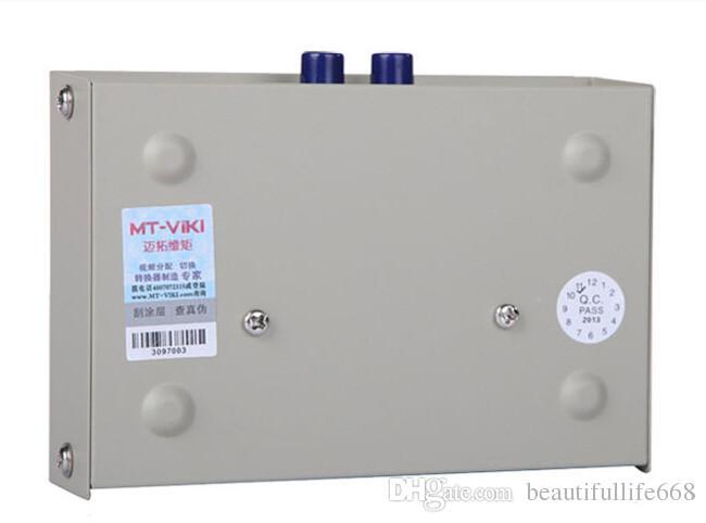Conmutación manual de 2 puertos, conmutador de red RJ45 RJ-45 Conmutador Ethernet Network Box Aplicaciones 100MHz 2 en 1 salida