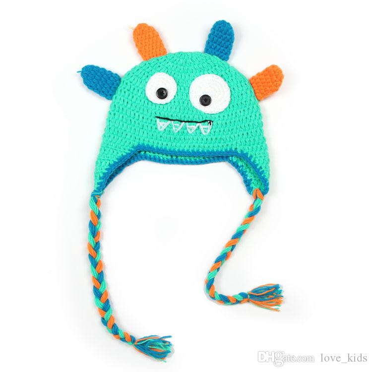 Hot Winter Baby Monster Strickmütze Infant Cartoon Caps Kleinkind Outdoor Wärme Beanie Hüte passen Neugeborene
