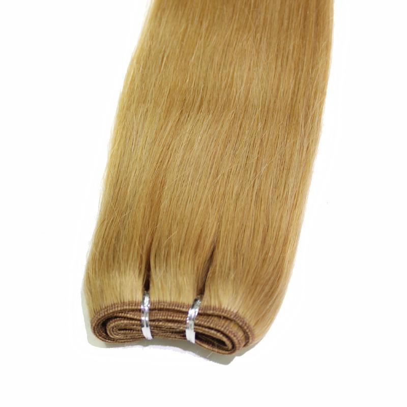Droit brésilien Human Hair Weave # 1B Black Hair Trame # 10 # 8 Brown # 27 # 613 # 99j Blonde Bourgogne 100 g / doux cheveux pas cher
